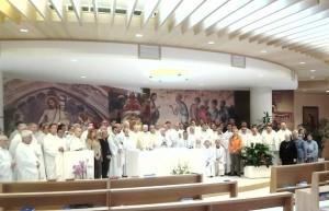 I partecipanti a conclusione degli Esercizi Spirituali