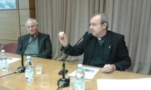 S. E. Mons. Enrico Solmi col Presidente don Luigi Mansi
