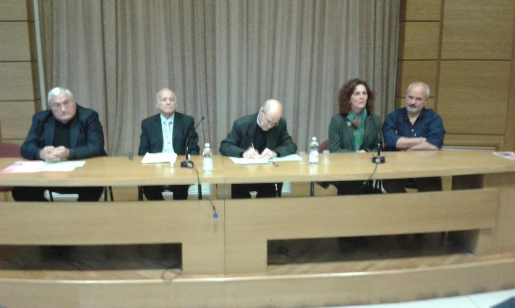 Tavola rotonda: don Clemente Petrillo, diac. Enzo Petrolino, don Franco Costa, coniugi Federica e Maurizio Moneta