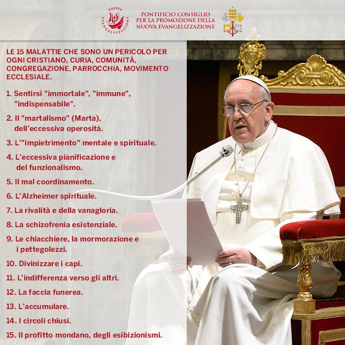 15 malattie del papa francesco