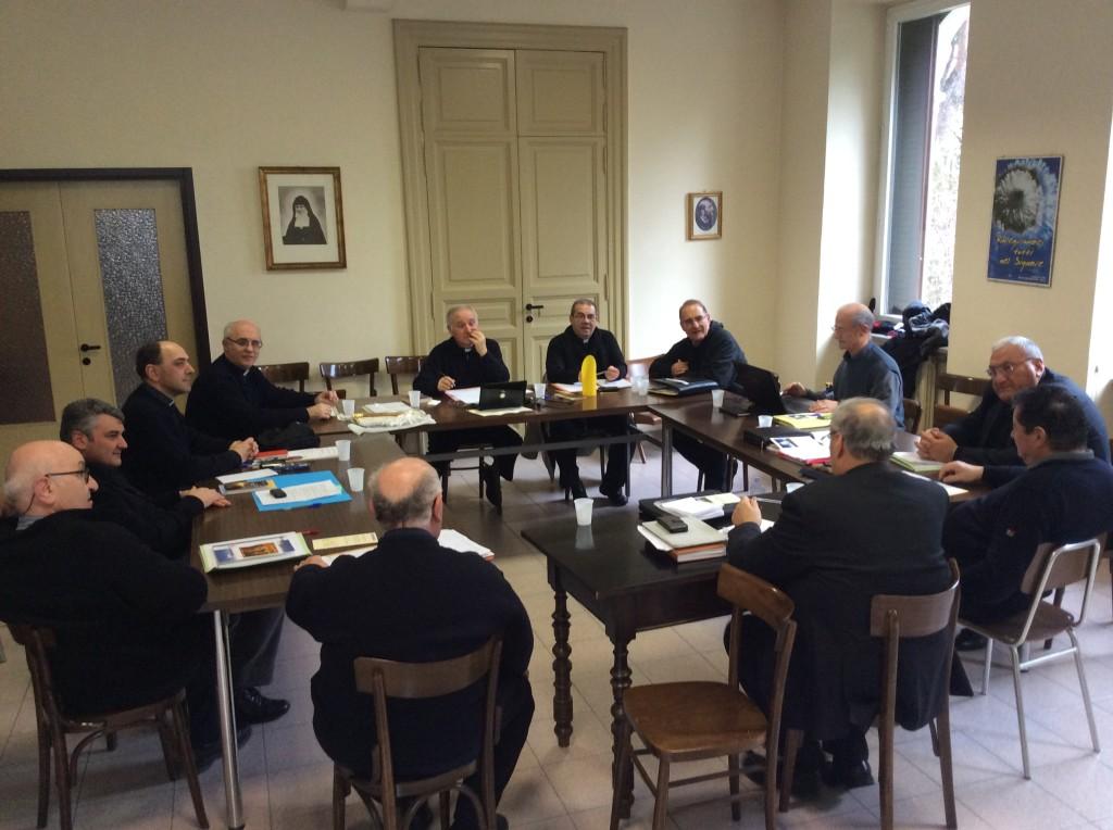 Il Consiglio nazionale riunito a Roma nell'Istituto delle Ancelle del S. Cuore in via XX settembre.
