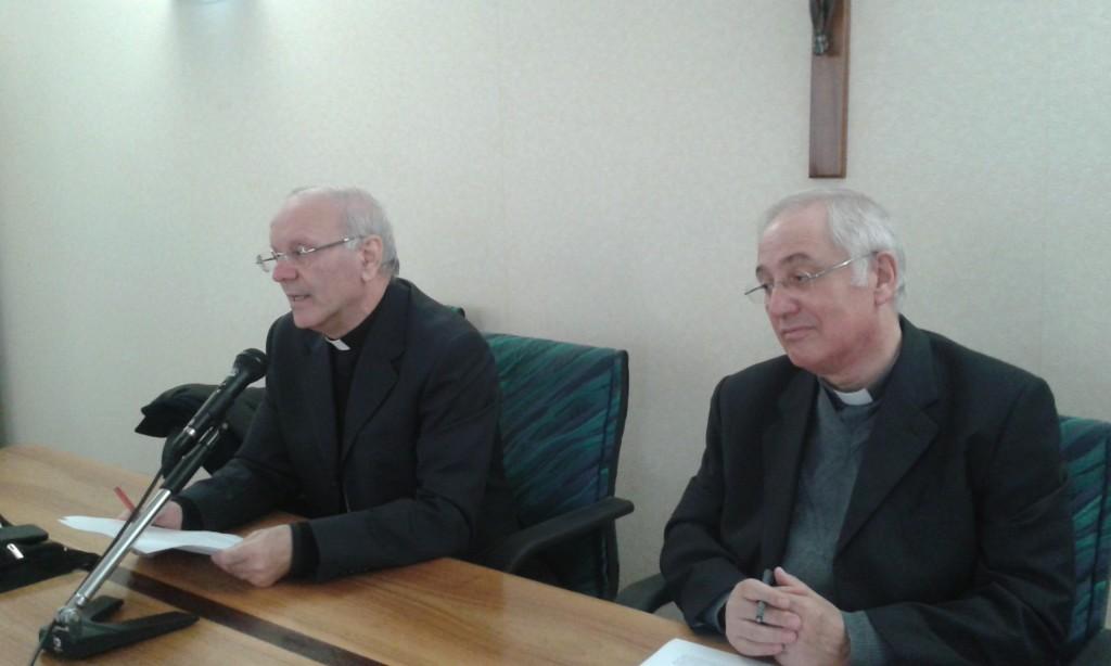 S. E. Mons. Nunzio Galantino col Presidente d. Luigi Mansi