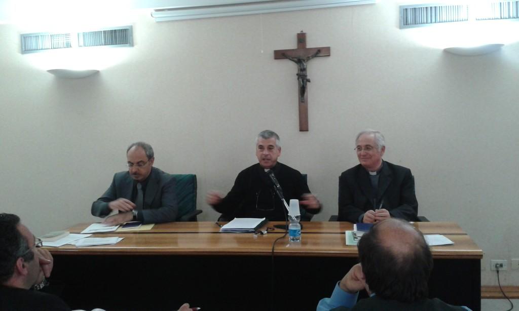 don Francesco Soddu col Presidente e il dott. Stefano Maria Gasseri di Sovvenire