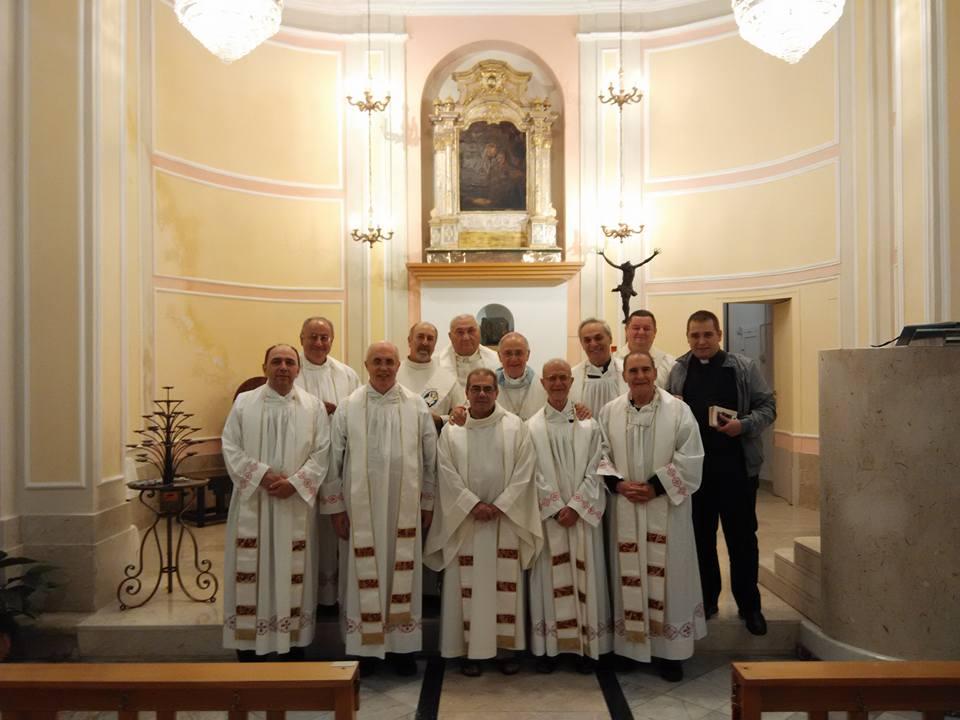 I partecipanti al Consiglio nazionale nel Santuario Mariano diocesano Maria SS. del Ponte a Caltagirone