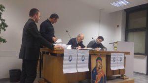 seggio elettorale: Mons. Franco Costa di Padova presidente, don Angelo Castrovilli di Andria segretario, don Giommaria Canu di Ozieri e don Giovanni Cossu di Nuoro scrutatori