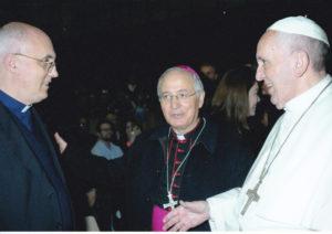 don Stefano Rosati, Consigliere nazionale saluta il Papa Francesco