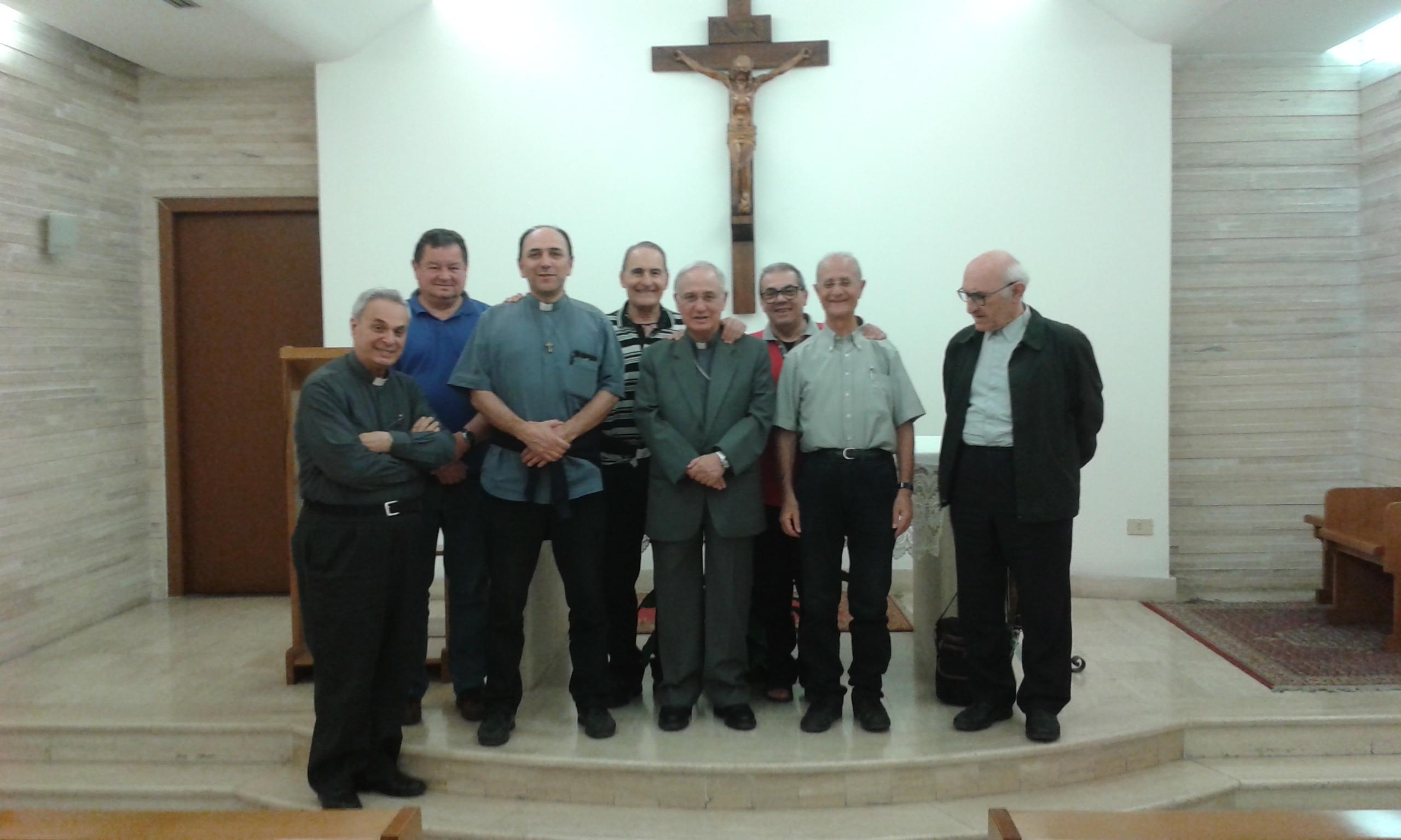 i partecipanti al Consiglio nazionale del 30 maggio 2017 nella Sala della cappella della Stazione Termini a Roma.